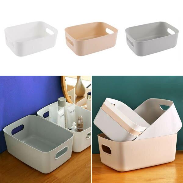 日式收納籃-(大.小) 有提口整理儲物籃置物藍 廚房浴室收納箱 贈品禮品