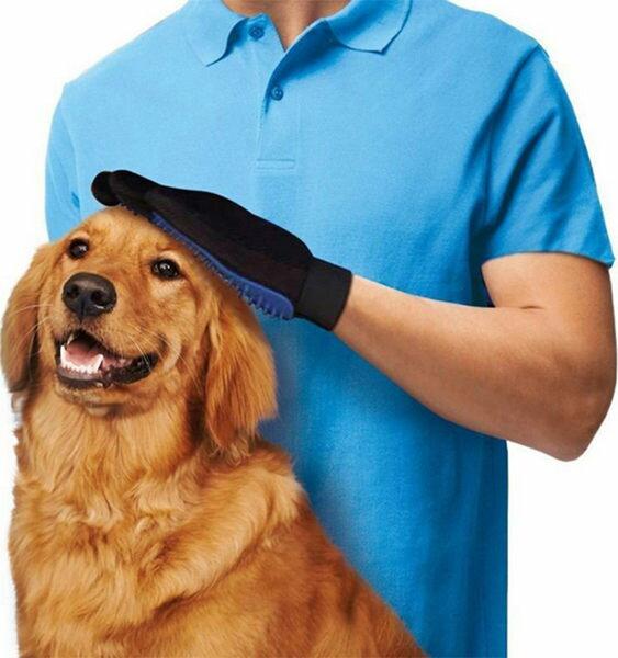 PS Mall 寵物按摩手套 洗澡按摩手套~J1502~
