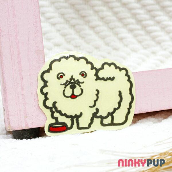 [反光貼紙] 鬆獅犬 4.9*6.2 cm