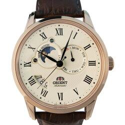 【時光鐘錶】ORIENT 東方錶(SET0T001W) 防水 時尚 月相 機械 男錶/金/42.5mm