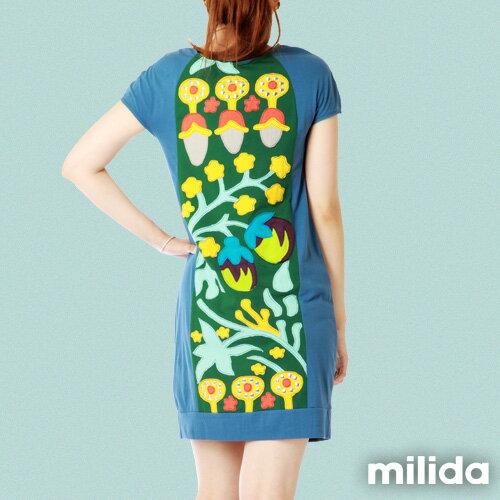 【Milida,全店七折免運】-夏季商品-拼貼款-氣質花卉圖騰 1