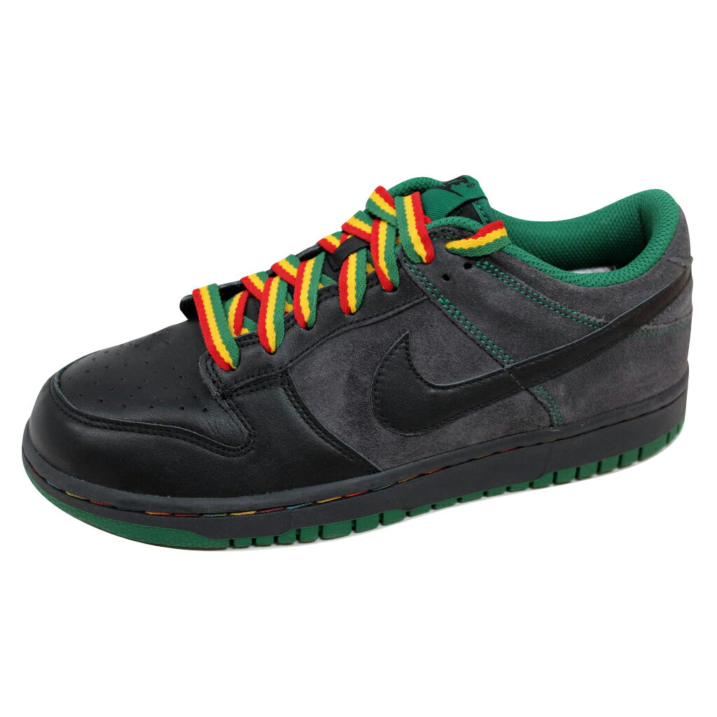 huge discount 3cbcd 01abb ... Nike Dunk Low CL Black Black-Anthracite-Pine Green Rasta Jamaica  304714- ...