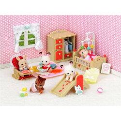 【Fun心玩】EP23840 麗嬰 日本 EPOCH 森林家族 溫馨嬰兒房組07新色(不含玩偶) 家家酒 聖誕 生日 禮物
