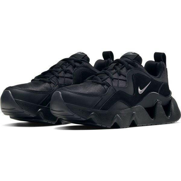 KUMO SHOES-Nike RYZ 365 黑 全黑 孫芸芸 增高 厚底 麂皮 鋸齒底 慢跑鞋 BQ4153-004