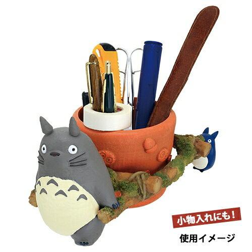 【真愛日本】17041400022 花器-灰龍貓拉花盆  龍貓 TOTORO 豆豆龍  花瓶 擺飾 收納 日本帶回