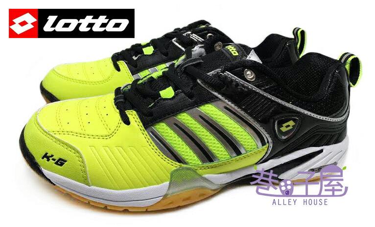 【巷子屋】義大利第一品牌-LOTTO樂得 男款多功能專業透氣羽球鞋/排球鞋 [2074] 黑黃 超值價$621+免運