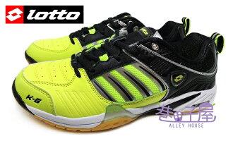 【巷子屋】義大利第一品牌-LOTTO樂得 男款多功能專業透氣羽球鞋/排球鞋 [2074] 黑黃 超值價$690