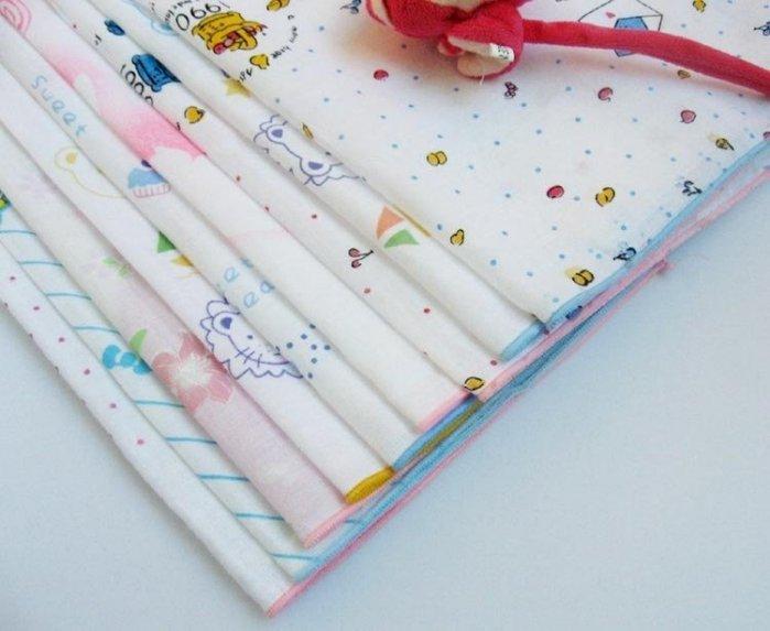 韓國 純棉印花雙層紗布手帕 口水巾 安撫巾 柔軟無螢光加大碼35*35 不挑款