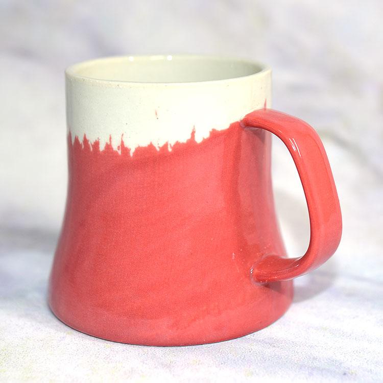 赤富士山 陶瓷馬克杯 日本製造