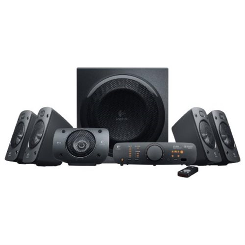 Logitech Z906 3D Surround Sound 5.1 THX Certified, 500W DTS Stereo Speaker System - 980-000467-R 1