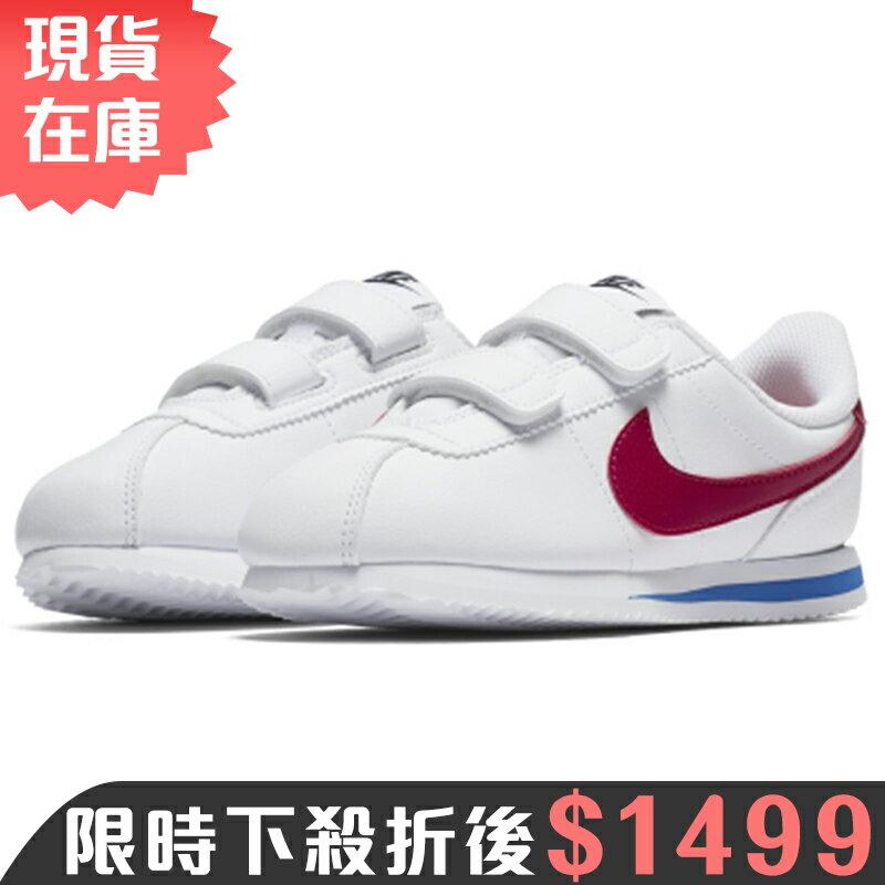 ~ 在庫~ Nike Cortez Basic SL PSV 童鞋 中童 休閒 阿甘 皮革 魔鬼氈 白藍紅 ~ 世界~904767~103