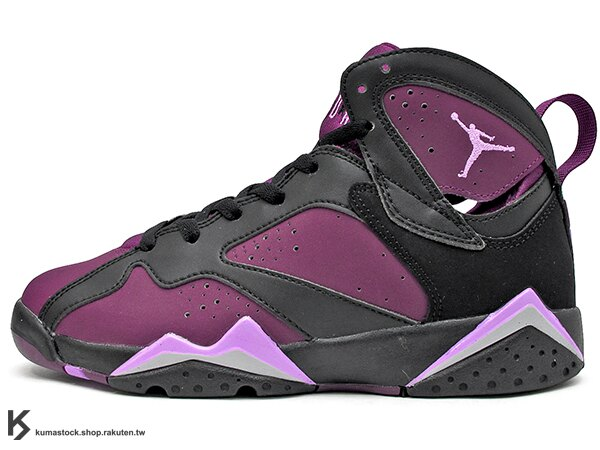 2016 重新復刻 全新配色 NIKE AIR JORDAN 7 VII RETRO GG BG GS MULBERRY 大童鞋 女鞋 黑紫紅 桑椹 AJ (442960-009) !