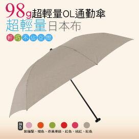 【momi宅便舖】98G超輕量通勤傘(駱色) / 抗UV /MIT洋傘/ 防曬傘 /雨傘 / 折傘 / 戶外用品