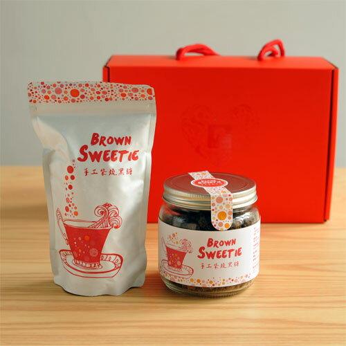 【食在加分手工柴燒黑糖禮盒】原味玻璃罐裝+原味立袋裝禮盒組-免運費 0