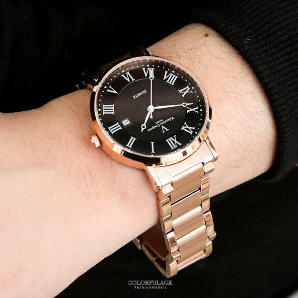 范倫鐵諾˙古柏羅馬數字不鏽鋼錶正品原廠公司貨【NEV31】柒彩年代