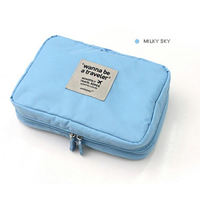 買一送一【酷創意】韓流新款  Monopoly 多功能旅行收納小包 防水洗漱包 化妝包E46