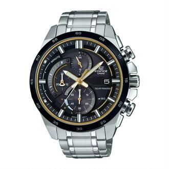 CASIO EDIFICE EQS-600DB-1A9 太陽能賽車時尚指針腕錶/黑面48mm