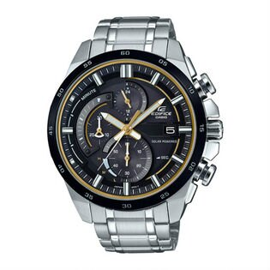 CASIOEDIFICEEQS-600DB-1A9太陽能賽車時尚指針腕錶黑面48mm
