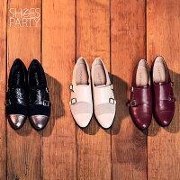 【P2-16712L】個性拼接孟克鞋_Shoes Party 0