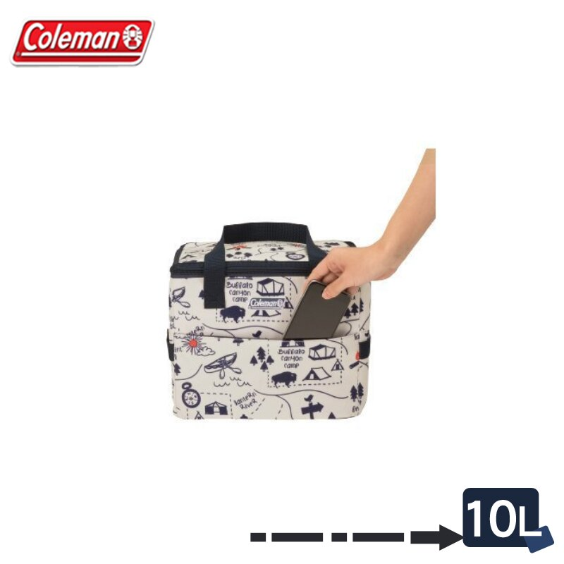 【露營趣】Coleman CM-33436 10L 露營地圖保冷袋 軟式冰箱 軟式冰桶 保溫袋 摺疊冰桶 保冰袋 保冰桶 野餐籃