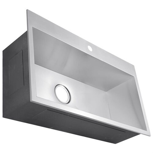 "30"" x 18"" x 9"" Top Mount Drop-In 16 Gauge Stainless Steel Handmade Single Bowl Kitchen Sink 1"