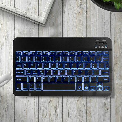 平板電腦鍵盤 新款ipad藍芽2019蘋果Pro電腦筆記本Mac通用帶滑鼠安卓vivo手機mini華為M6/5便攜2018版超薄無線觸控『CM36985』