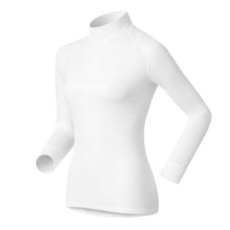 【【蘋果戶外】】odlo 152011 女高領 白『送polartec手套』瑞士 機能保暖型排汗內衣 衛生衣 發熱衣 保暖衣 長袖