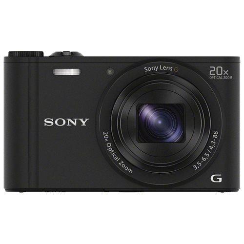 "Sony Cyber-shot DSC-WX350 18.2 Megapixel Compact Camera - 4.30 mm - 86 mm - Black - 3"" LCD - 16:9 - 20x Optical Zoom - 80x - Optical (IS) - 4896 x 3264 Image - 1920 x 1080 Video - HDMI - HD Movie Mode - Wireless LAN 2"