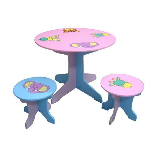 【奇買親子購物網】EMC動物家族圓桌椅(1桌2椅)