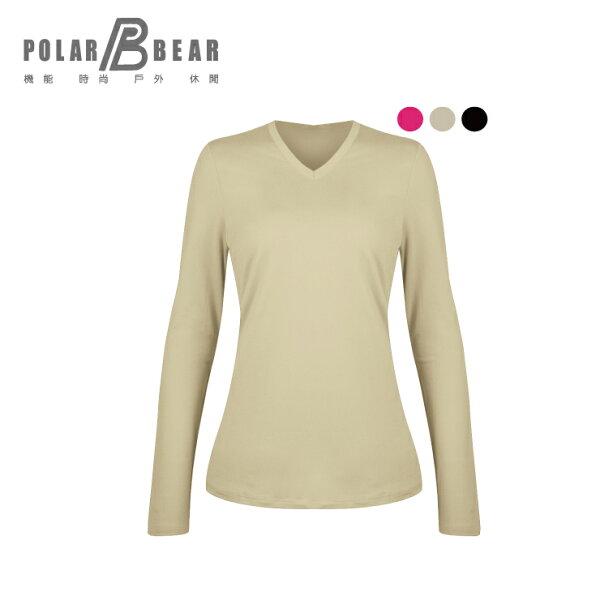 【POLARBEAR】女彈性日本DasThermometerV領保暖衣