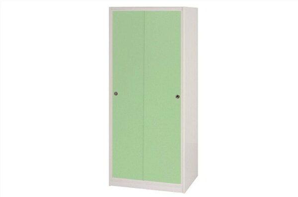 【石川家居】832-06(綠白色)拉門衣櫥(CT-114)#訂製預購款式#環保塑鋼P無毒防霉易清潔