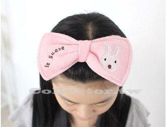 【J13110101】砂糖兔蝴蝶結束髮帶 可愛系 砂糖兔髮帶 化妝洗臉必備