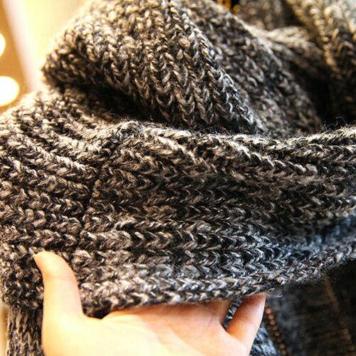 外套 圍巾造型開襟針織長版大衣 外套 毛衣【29213】藍色巴黎《2色》現貨 2