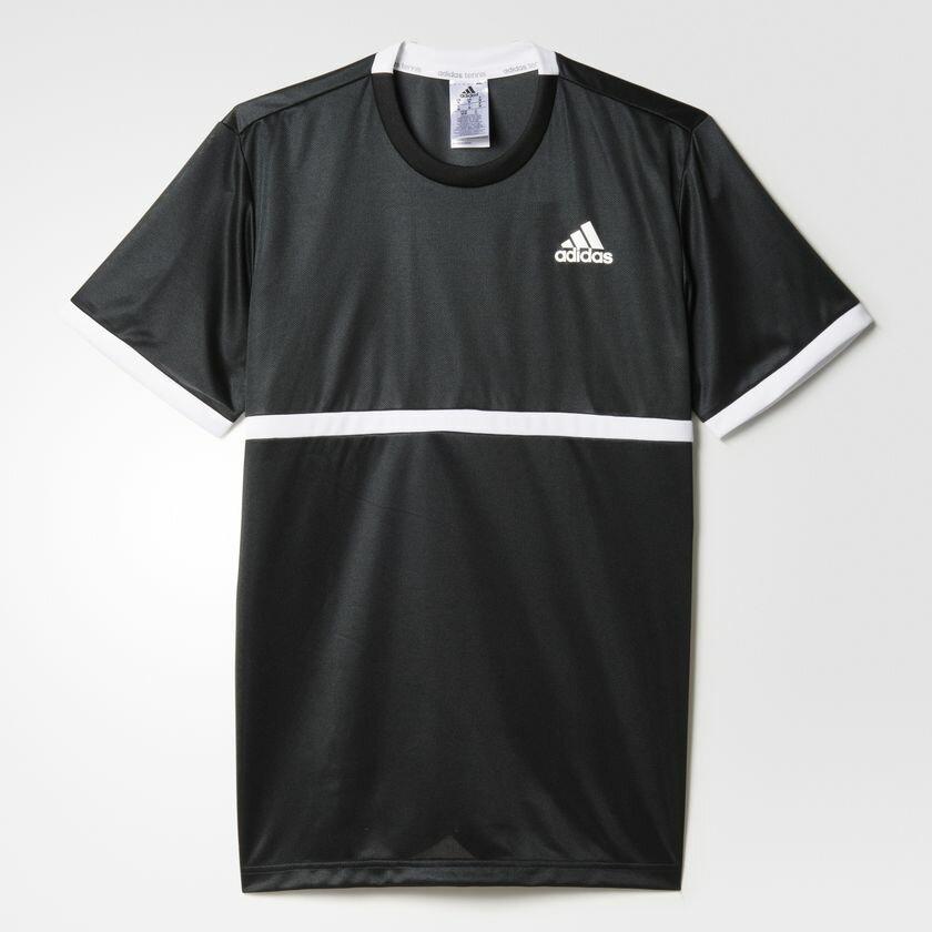Adidas Court Tee 男裝 上衣 短袖 休閒 網球 排汗 透氣 黑 【運動世界】 AJ7013