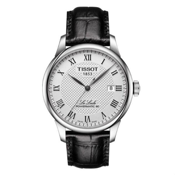 TISSOT天梭錶T0064071603300力洛克經典80小時動力機械腕錶白面39.3mm