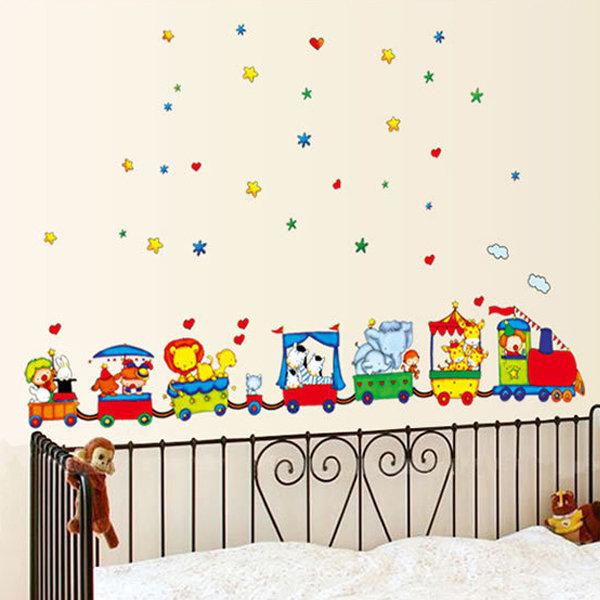 BO雜貨【YV0684】DIY時尚裝飾組合可移動壁貼 牆貼 壁貼 創意壁貼 卡通玩具車TC990