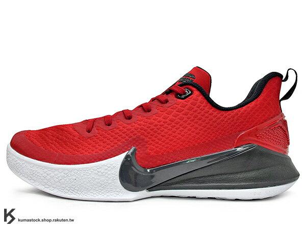 2019 最新款 Kobe Bryant 代言子系列 中價位籃球鞋 NIKE MAMBA FOCUS EP 低筒 紅黑 透氣鞋面 前掌 ZOOM AIIR 氣墊 籃球鞋 湖人 KB (AO4434-600) 0419