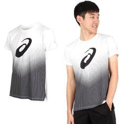 ASICS 男印花短袖T恤 (免運 短T 短袖上衣 慢跑 亞瑟士【03312940】≡排汗專家≡