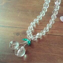 美麗大街【GX0463】 時尚簡約2014新款項鍊鎖骨鏈誇張 玻璃水晶櫻桃項鍊