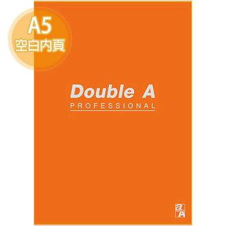 【Double A】A5/25K 膠裝筆記本 DANB15064 辦公室系列 (橘色/空白/50頁)