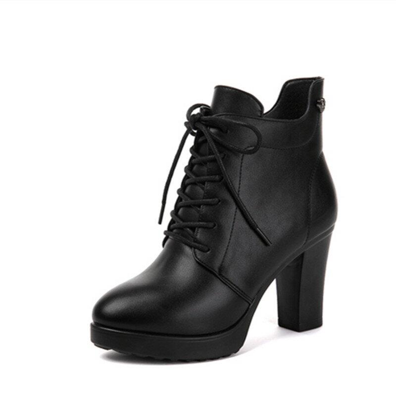 短靴尖頭高跟馬丁靴-黑36 / 39 女鞋DDD【AAA3673】 - 限時優惠好康折扣