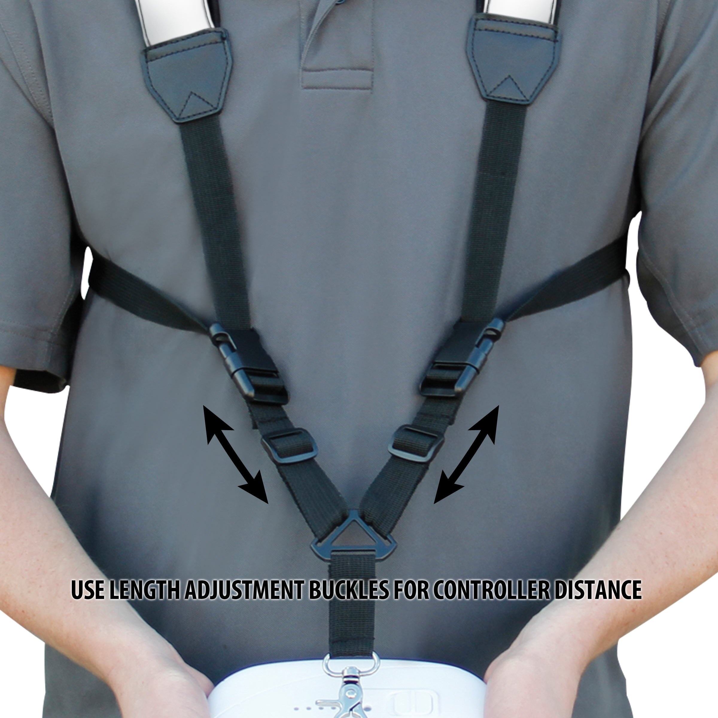 USA Gear Remote Control Drone Harness Strap with Neoprene Design and Accessory Storage Pockets 2