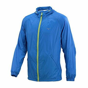 J2TC758321(藍)輕量防風、防潑水男路跑風衣【美津濃MIZUNO】