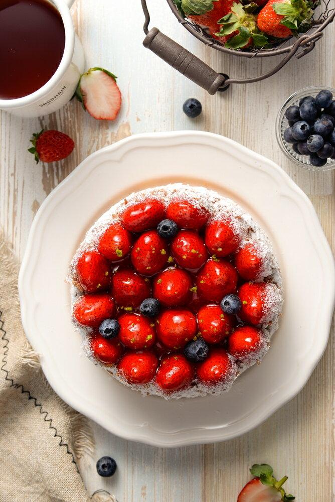 6吋草莓乳酪派▲免運▲~嚴選紐西蘭頂級乳酪▲產地直送新鮮大湖草莓▲多層次口感▲天然醇厚 4
