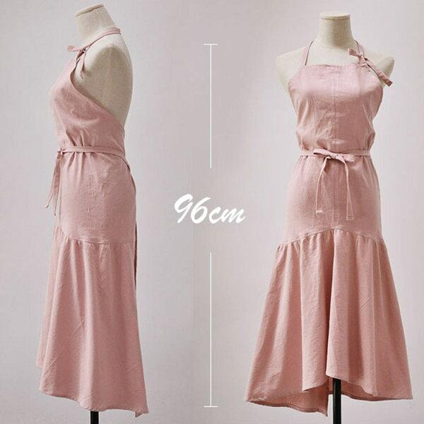 77美妝:日式棉麻魚尾圍裙MISU5729