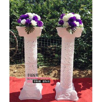 羅馬柱歐式婚慶路引花柱下垂花可拆卸開業慶典引路拱門搭配羅馬柱 1