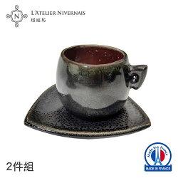 法國手作濃縮咖啡杯組 (黑鑽紅/火舞)★全店超取滿699免運