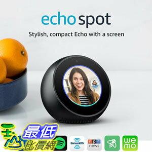[107美國直購] 亞馬遜 Amazon Echo Spot 智慧 聲控揚聲器 Alexa 語音助理 原廠正品 情人節禮物