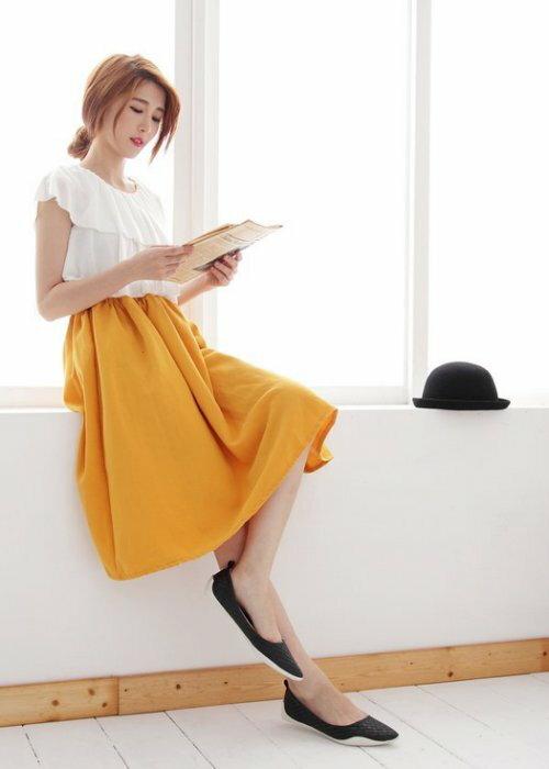 Pyf ♥ 韓版獨家訂製 超舒適軟膠底 基本款黑色編織 氣質百搭 平底鞋 寬楦 40-42大尺碼女鞋