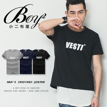 ☆BOY-2☆【PPK82119】美式休閒素面Vesti男裝短袖T桖 0